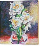 Joan's Gardenias Wood Print