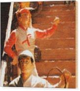 Jockeys Waiting Wood Print
