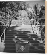 Jodo Shu Mission Lahaina Maui Wood Print