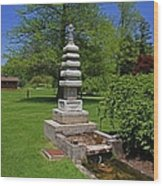 Joe And Marie Schedel Pagoda-horizontal Wood Print