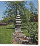 Joe And Marie Schedel Pagoda- Vertical Wood Print