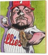 Joe Blanton -phillies Wood Print