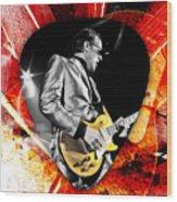 Joe Bonamassa Blue Guitar Art Wood Print