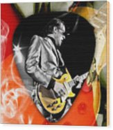 Joe Bonamassa Blues Guitar Art Wood Print