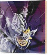 Joe Bonamassa Blues Guitarist Art Wood Print