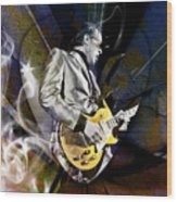 Joe Bonamassa Blues Guitarist Wood Print