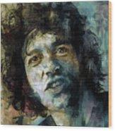 Joe Cocker Wood Print