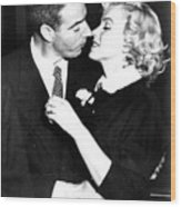 Joe Dimaggio, Marilyn Monroe Wood Print