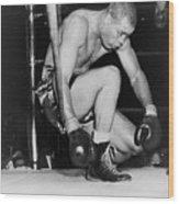 Joe Louis Last Professional Boxing Wood Print by Everett