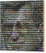 Joe Paterno Mosaic Wood Print by Paul Van Scott