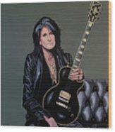 Joe Perry Of Aerosmith Painting Wood Print
