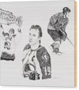 Joe Sakic Wood Print