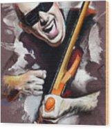 Joe Satriani Wood Print