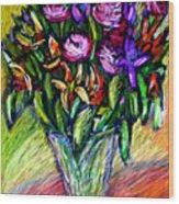 Joels Roses 1 Wood Print