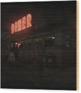 Joe's Diner Wood Print