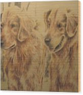Joe's Dogs Wood Print