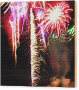Joe's Fireworks Party 1 Wood Print