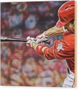 Joey Votto Baseball Wood Print