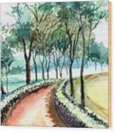 Jogging Track Wood Print