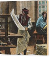 Johann Gutenberg Wood Print