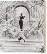 Johann Strauss  Wood Print