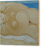 Johanna On The Beach  2007 Wood Print