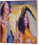 John And Yoko Wood Print