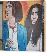 John And Yoko Ono Wood Print