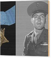 John Basilone And The Medal Of Honor Wood Print