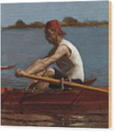 John Biglin In A Single Scull Wood Print