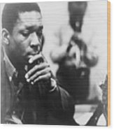 John Coltrane 1926-1967, Master Jazz Wood Print by Everett