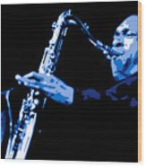 John Coltrane Wood Print by DB Artist