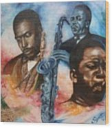 Blaa Kattproduksjoner     John Coltrane - Jazzed  Wood Print