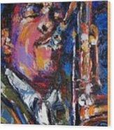 John Coltrane Live Wood Print