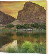 John Day River At Sunrise Wood Print