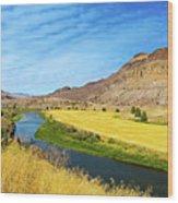 John Day River Panoramic View Wood Print