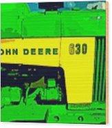 John Deere 630 Wood Print