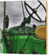 John Deere 830 Dash Wood Print