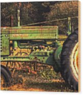 John Deere Retired Wood Print