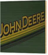 John Deere Signage Decal Wood Print