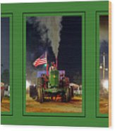 John Deere Tractor Pull Poster Wood Print