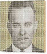 John Dillinger Mug Shot - Gold Wood Print