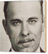 John Dillinger Mug Shot Sepia Wood Print