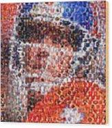 John Elway Mosaic Wood Print