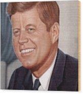 John F. Kennedy Wood Print