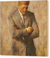 John Fitzgerald Kennedy Wood Print