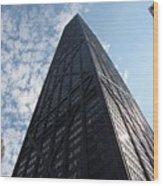 John Hancock Center And Surrounding Buildings Wood Print