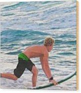 John John Florence - Surfing Pro Wood Print
