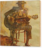 John Lee Hooker Wood Print