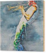 Miles Davis Wood Print